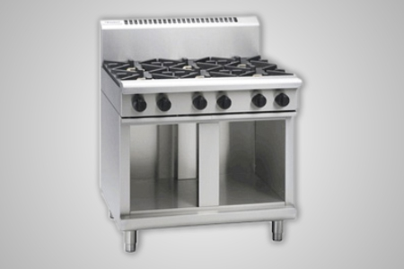 Waldorf 6 burner gas cooktop cabinet base - Model RN8600G-CB