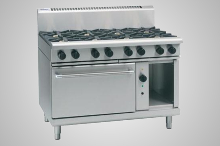 Waldorf 8 burner gas convection cooktop - Model RN8810GC