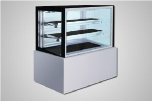 Bromic cake display 1200 square glass refrigerated - Model FD1200