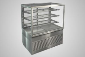Cossiga square profile heated food display - Model BTGHT12