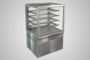 Cossiga counter square profile heated food display - Model BTGHT9