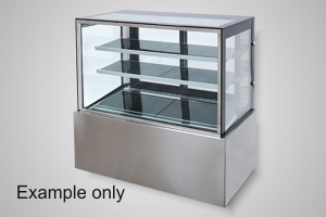 Anvil cake display 900 square glass refrigerated - Model DSV0730