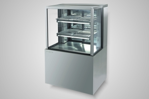 Skope cake display 900 square glass refrigerated - Model FDM900