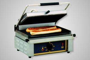 Roller Grill Contact Grill/High Speed Grill - Model Panini-GF (flat bottom plate)