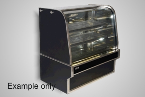 Koldtech 900 curved glass refrigerated cake display - Model RCD-9