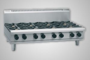 Waldorf 8 burner gas cooktop 600 griddle bench model - Model RN8806G-B
