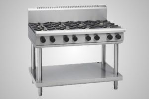 Waldorf gas cooktop 900 griddle on leg stand - Model RN8809G-LS