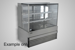Koldtech cake display 1500 square glass refrigerated - Model SQRCD-15