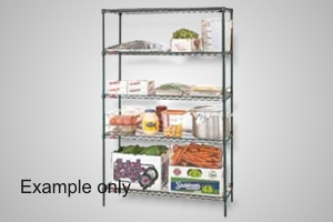 Metro shelving 4 tier 915x455 wire - Model 4T74.1836.NK3
