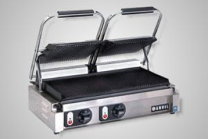 Anvil panini press double head - Model TSS3001 (flat plates)