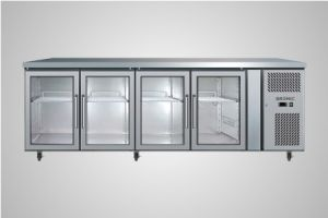 Bromic 4 glass door underbench chiller 553 Litre - Model UBC2230GD