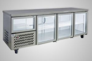 Anvil under bench fridge 2.5 glass doors - Model UBG6240