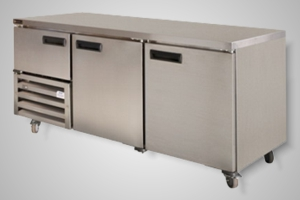 Anvil under bench fridge 2.5 solid doors - Model UBS1800