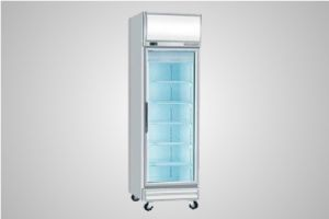 Bromic glass door fan forced freezer with lightbox 444 Litre - Model UF0500LF