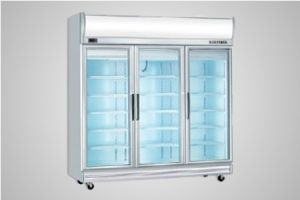 Bromic glass door fan forced freezer with lightbox 1507 Litre - Model UF1500LF