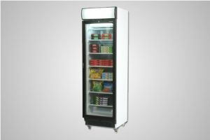 Bromic glass door static freezer with lightbox 300 Litre - Model UF0374LS LED