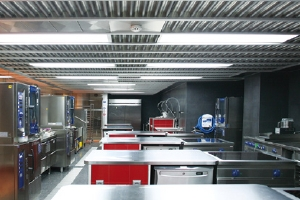 Stainless steel ventilated ceiling - Model Hidria