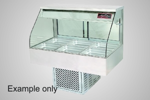 Woodson cold food display 3 module curved glass - Model WCFC23-65