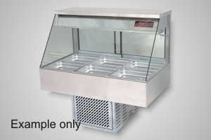 Woodson cold food display 3 module straight glass - Model WCFS23-65