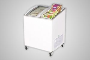 Bromic chest freezer angled glass top 176 litre - Model CF0200ATCG